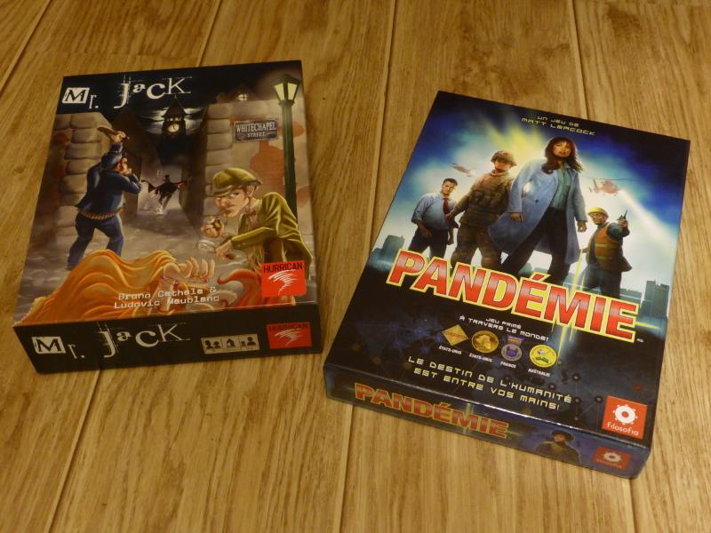 Boîtes de ces deux jeux de société