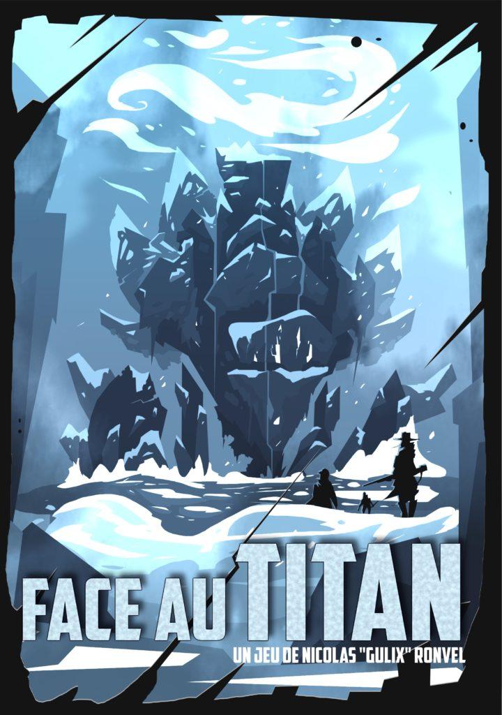 Ébauche de couverture du jeu de rôle Face Au Titan