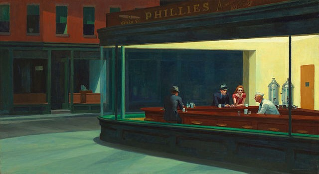 Tableau Nighthawks de Edward Hopper
