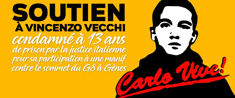 Affiche de soutien à Vincenzo Vecchi