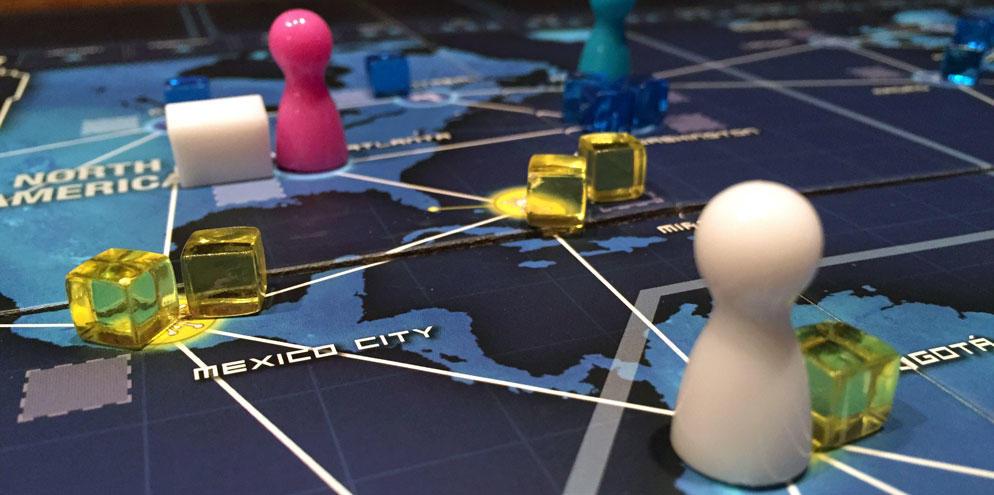 Photo du plateau de jeu de Pandémie